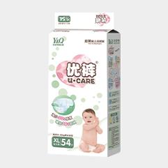 优裤超薄婴儿纸尿裤XL码54片
